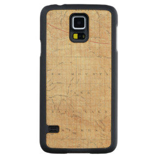 Mt Pinos quadrangle showing San Andreas Rift Carved Maple Galaxy S5 Case