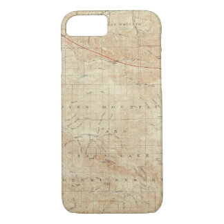 Mt Pinos quadrangle showing San Andreas Rift iPhone 8/7 Case
