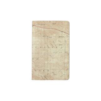 Mt Pinos quadrangle showing San Andreas Rift Pocket Moleskine Notebook