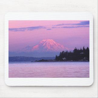 Mt. Rainier at Sunset, Washington State. Mouse Mat