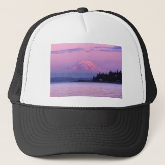 Mt. Rainier at Sunset, Washington State. Trucker Hat