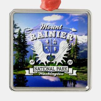 Mt. Rainier Camper Logo Christmas Ornament