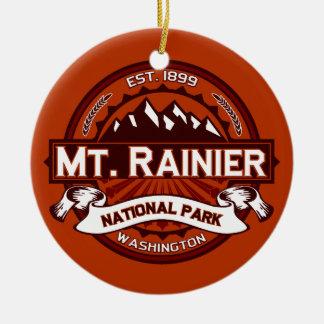 Mt. Rainier Crimsom Christmas Ornament