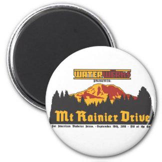 Mt Rainier Drive 2010 6 Cm Round Magnet