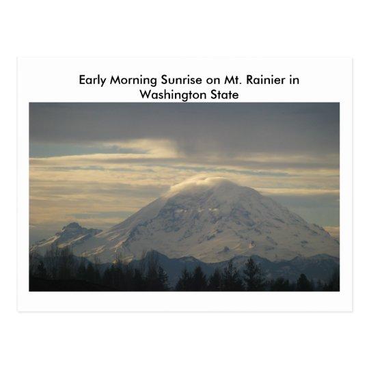 Mt. Rainier in Washington State Postcard