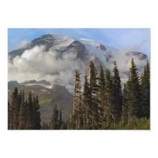 "Mt Rainier 5"" X 7"" Invitation Card"