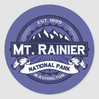 Mt. Rainier Midnight Round Sticker