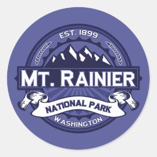 Mt. Rainier Midnight Round Sticker