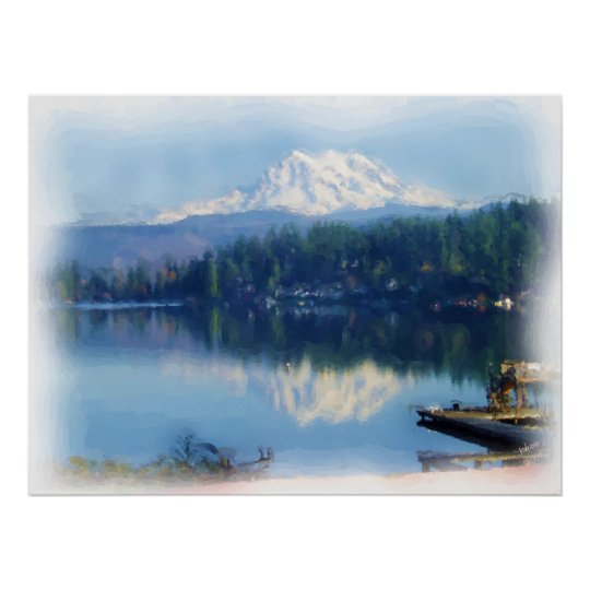 Mt. Rainier Mirror Poster