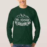 Mt. Rainier Mountain Emblem White Tee Shirts