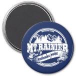 Mt. Rainier Old Circle Blue Fridge Magnets