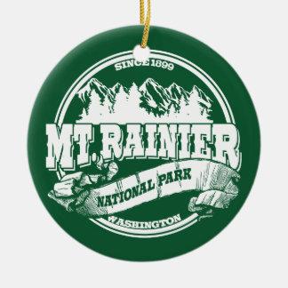 Mt. Rainier Old Circle Round Ceramic Decoration