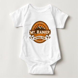 Mt. Rainier Pumpkin Baby Bodysuit