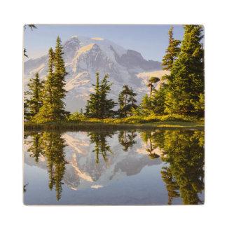 Mt. Rainier reflected in a tarn near Plummer Peak Wood Coaster