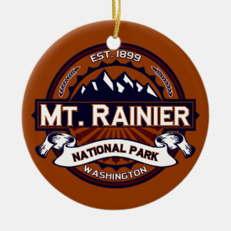 Mt. Rainier Vibrant Christmas Ornament
