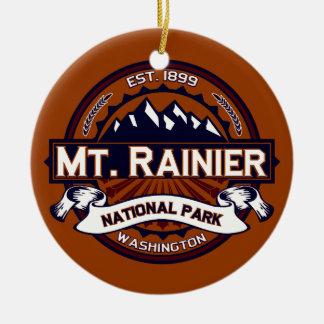 Mt. Rainier Vibrant Round Ceramic Decoration