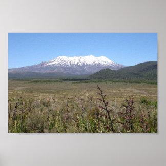 Mt. Ruapehu In Summer Poster
