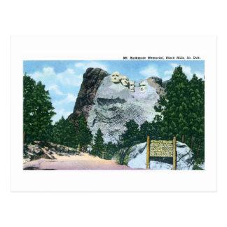 Mt Rushmore Black Hills South Dakota Post Card
