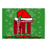 MT SANTA - MASSAGE THERAPIST CHRISTMAS SANTA GREETING CARDS