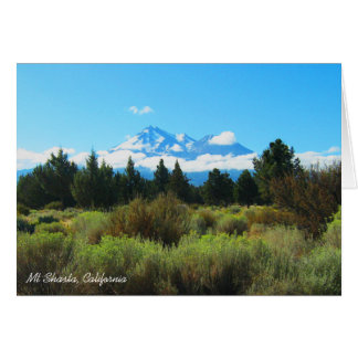 Mt Shasta, California Note Card