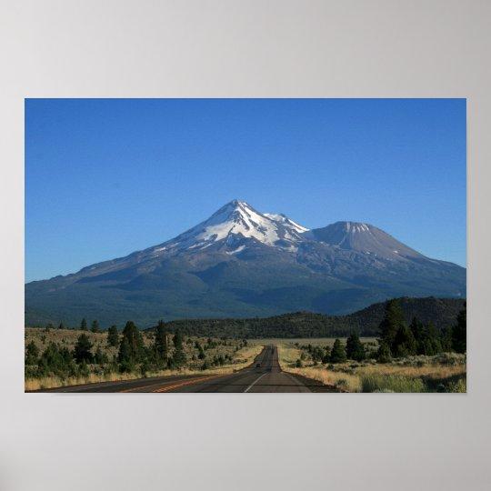 Mt. Shasta California - Volcano Poster