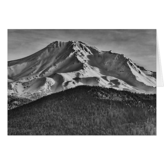 MT SHASTA IN BLACK AND WHITE CARD