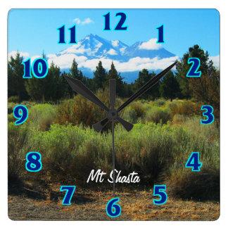 Mt Shasta Square Wall Clock