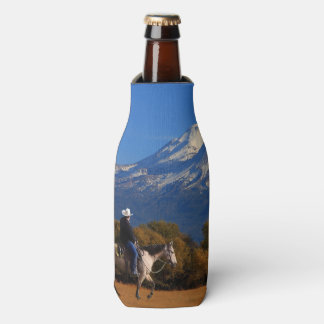 MT SHASTA WITH HORSE AND RIDER BOTTLE COOLER