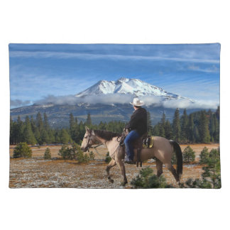 MT SHASTA WITH HORSE AND RIDER PLACEMAT