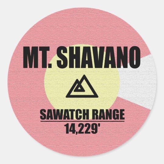 Mt. Shavano Classic Round Sticker