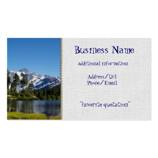 Mt Shuksan From Picture Lake Business Cards