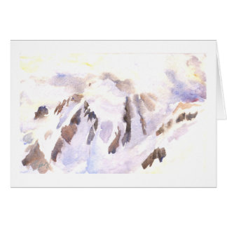 Mt. Shuksan in snow and mist Greeting Card