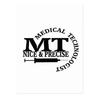 MT SLOGAN NICE AND PRECISE MEDICAL LABORATORY TECH POSTCARD