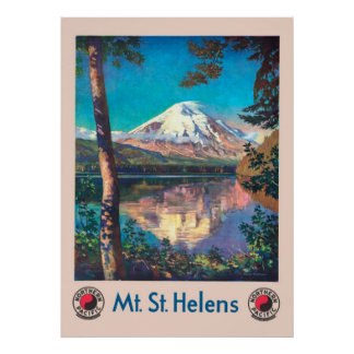 Mt. St. Helens, for Northern Pacific Vintage Poster