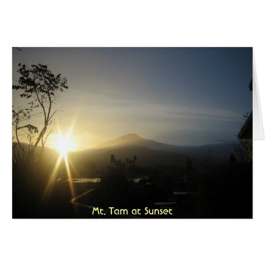 Mt. Tam at Sunset Card
