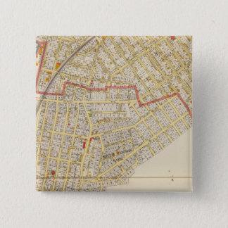 Mt Vernon Atlas Map 15 Cm Square Badge