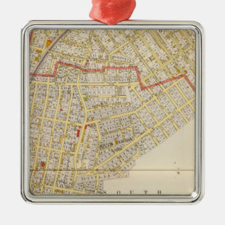 Mt Vernon Atlas Map Silver-Colored Square Decoration