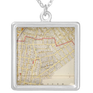 Mt Vernon Atlas Map Silver Plated Necklace