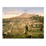 Mt. Vesuvius and the ruins of Pompeii in Italy Post Cards