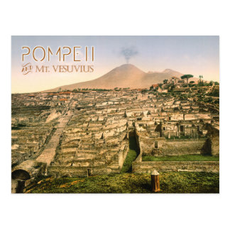 Mt. Vesuvius and the ruins of Pompeii in Italy Postcard