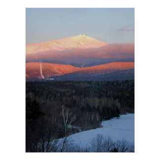Mt Washington at Sunset Poster
