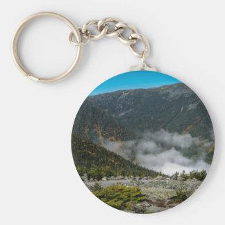 Mt. Washington Mountainous View Button Keychain