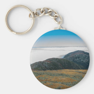 Mt. Washington Summit Horizon Button Keychain
