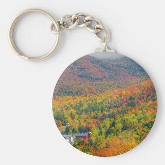 Mt. Washington Valley in Autumn Button Keychain