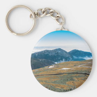 Mt. Washington View from the Top Button Keychain