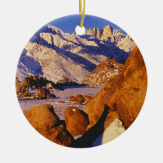 Mt. Whitney and Lone Pine peak Christmas Ornament
