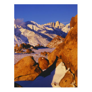 Mt Whitney and Lone Pine peak Post Card