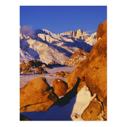 Mt. Whitney and Lone Pine peak Post Card