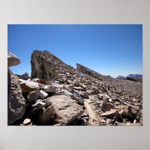 Mt Whitney needles Traverse 2 - John Muir Trail Poster