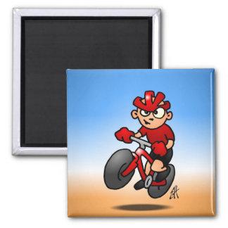 MTB - Mountain biker Square Magnet